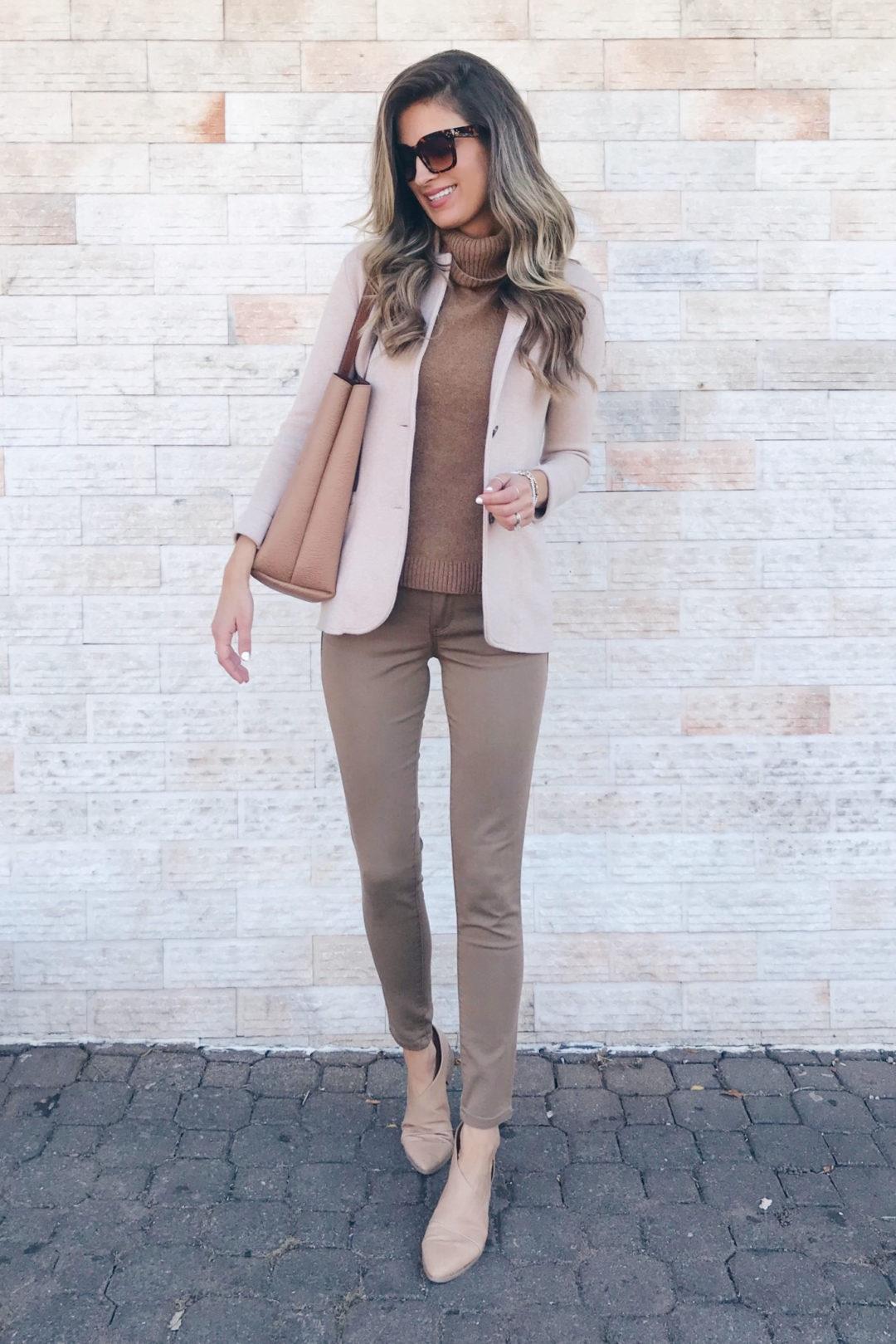 fashion blogger wearing j. crew sweater blazer - teacher outfit inspiration on pinteresting plans blog