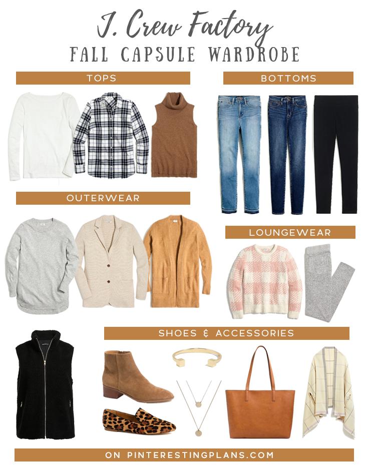 jcrew factory womens minimalist capsule wardrobe for fall on pinteresting plans blog