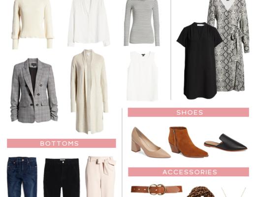 fall business casual workwear capsule wardrobe for women