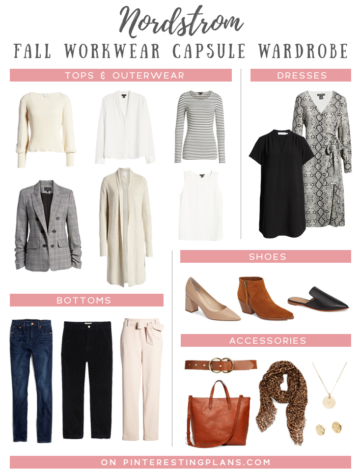 fall business casual workwear capsule wardrobe for women