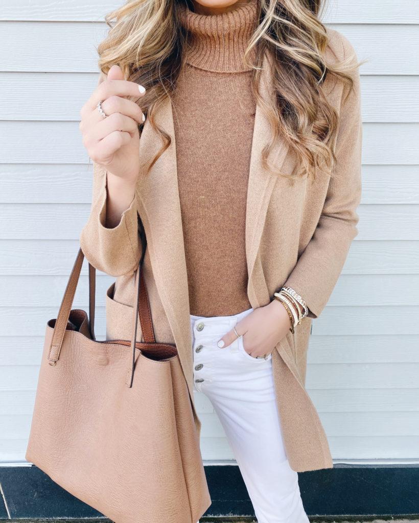 classy camel sweater coat on black friday sale - pinteresting plans fashion blog