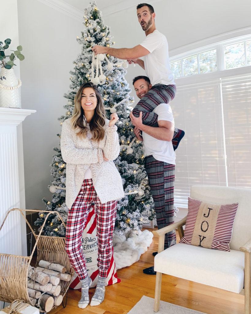 festive christmas pajamas for tall men and women - pinteresting plans fashion blog