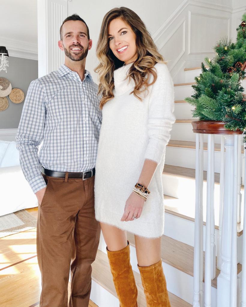 white eyelash sweater dress and Black Friday sale round up on pinteresting plans fashion blog