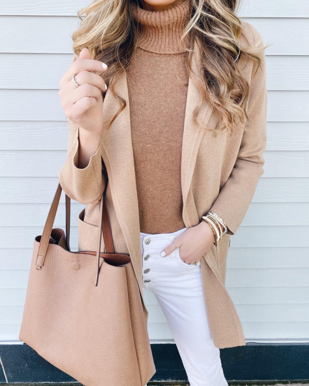 camel sweater coat - black friday sale round up - pinteresting plans