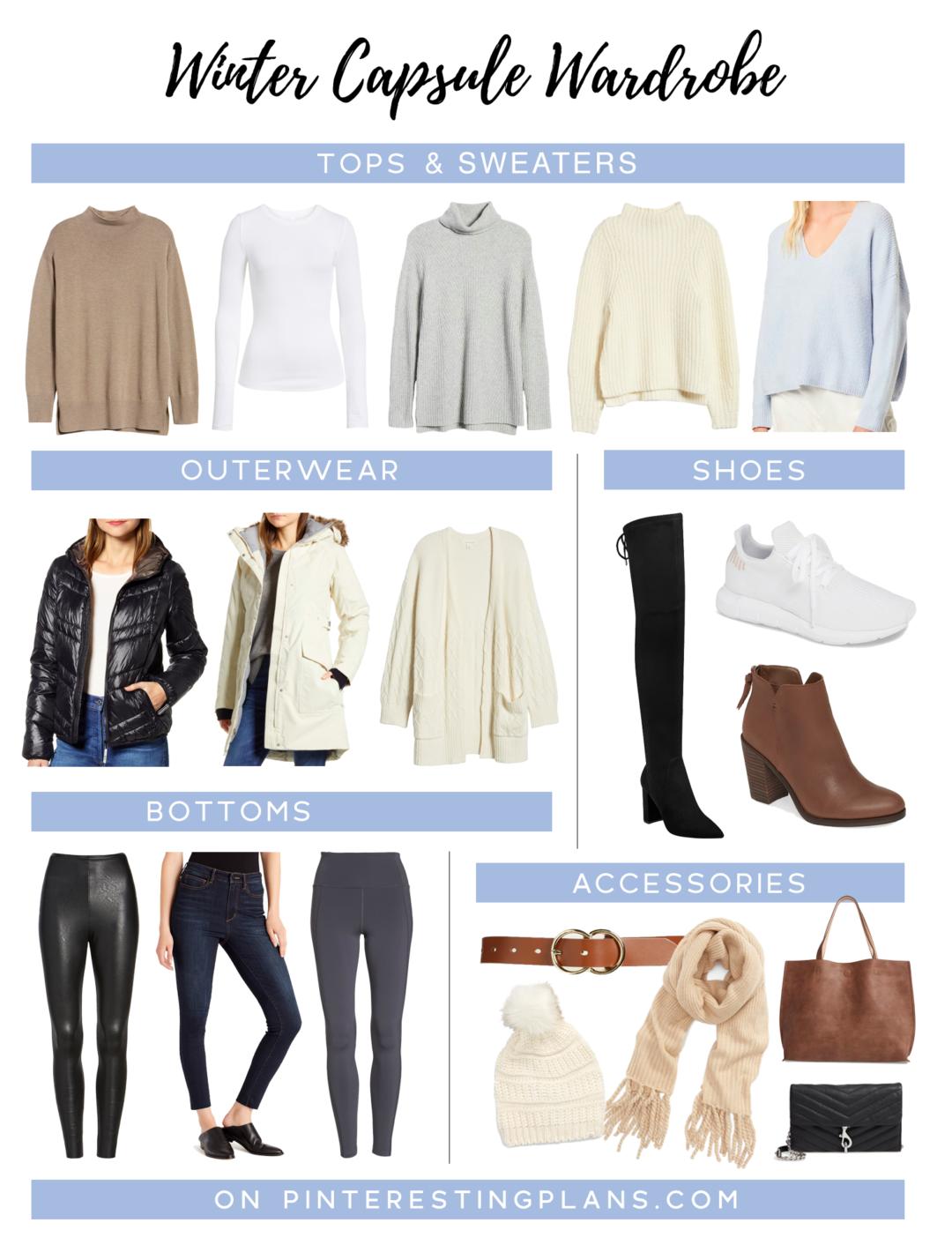 womens minimalist winter capsule wardrobe on Pinteresting plans fashion blog