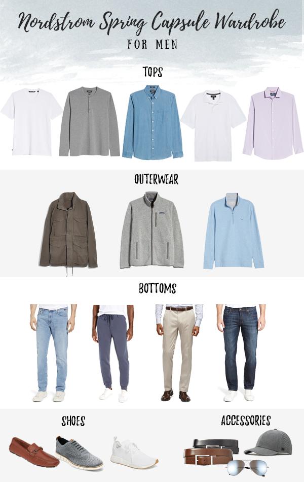 mens everyday minimalist spring 2020 capsule wardrobe from nordstrom