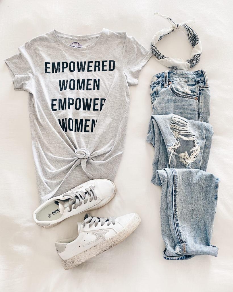 womens spring trends 2020 - empowered women empower women graphic tee on Pinteresting plans fashion blog
