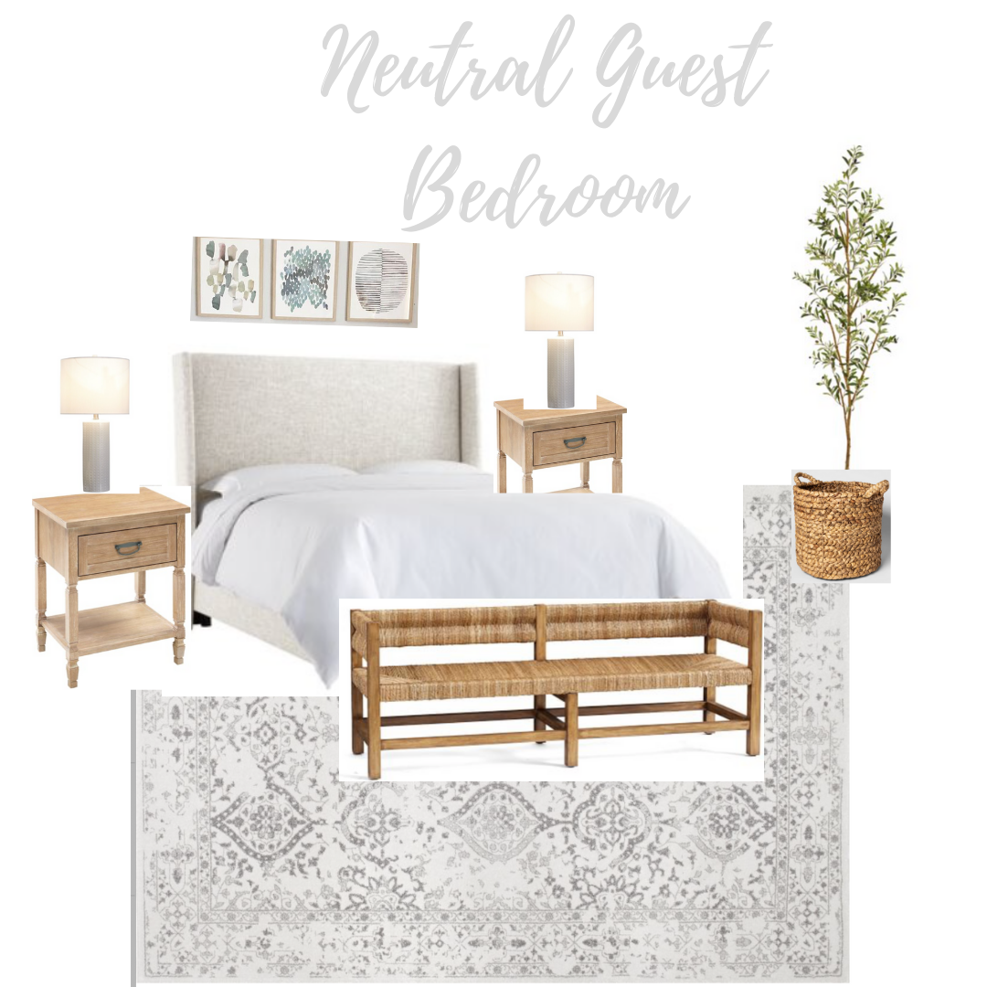 neutral guest bedroom design ideas