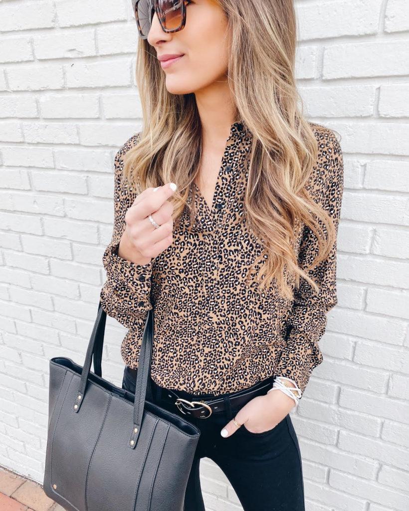 office friendly leopard tunic - leopard workwear - pinteresting plans fashion blog