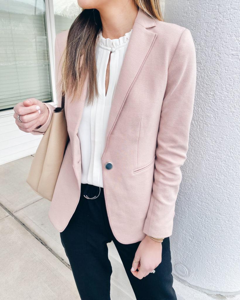 pink blazer - spring work outfit - pinteresting plans fashion blog