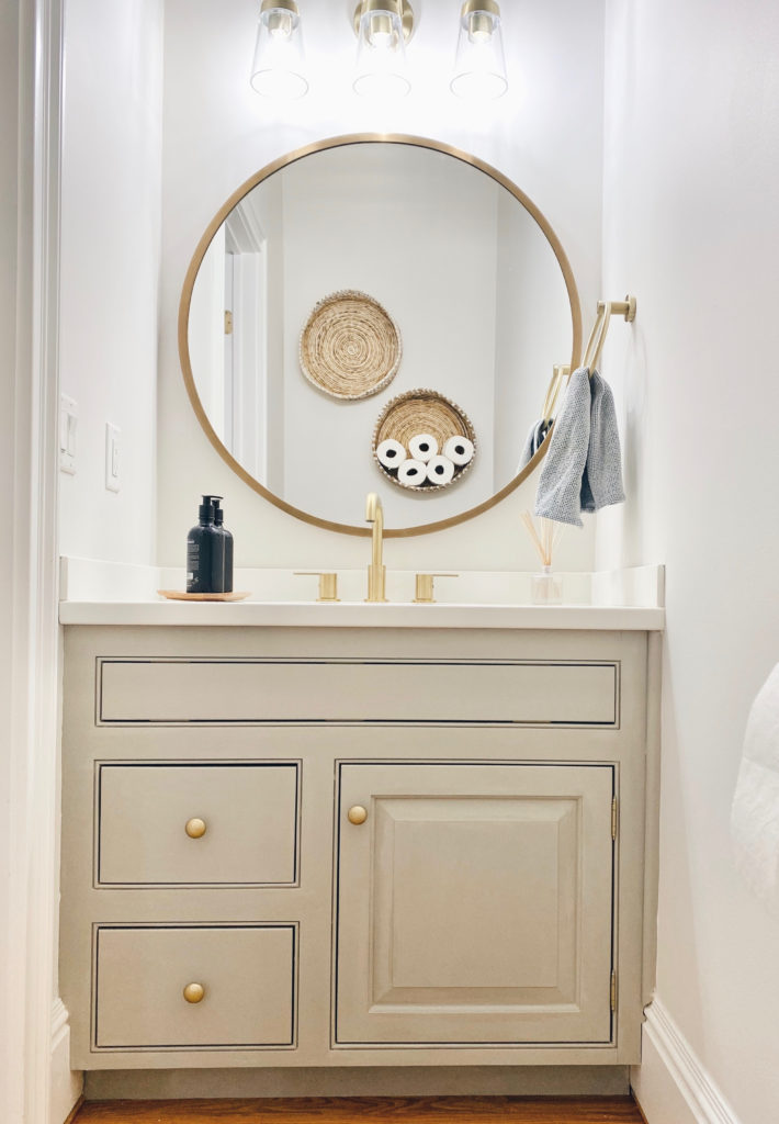 before and after powder room makeover with chalk paint - pinteresting plans blog