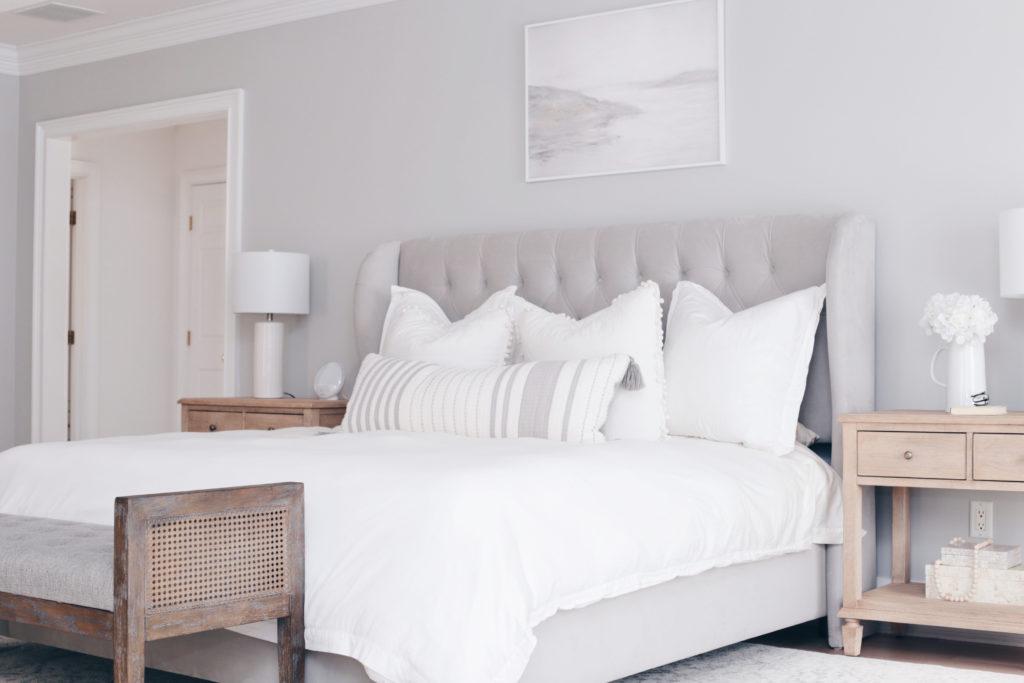 modern master bedroom art above the bed - pinteresting plans blog
