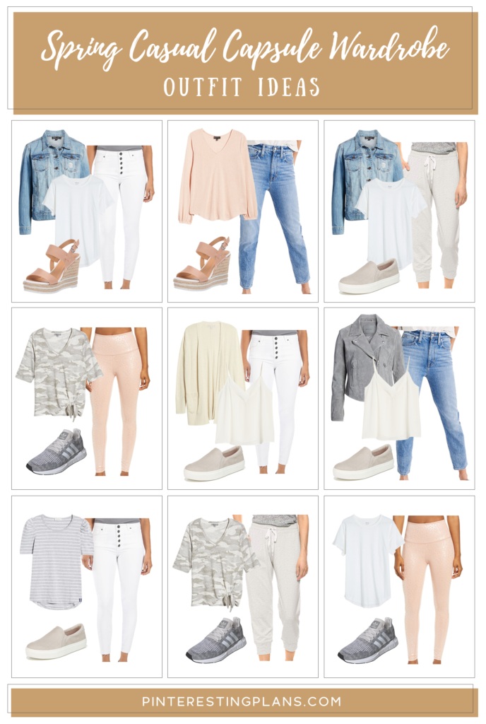 womens spring capsule wardrobe 2020 - minimalist neutral everyday casual outfit ideas on Pinteresting plans fashion blog