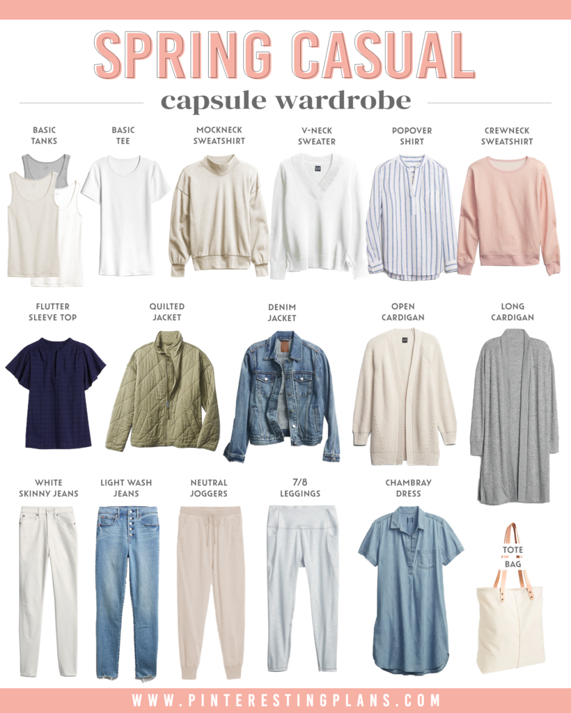 how to build spring casual capsule wardrobe 2021 with neutral basics