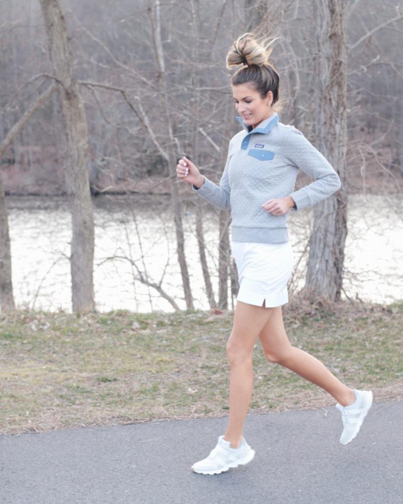 spring skort outfit for exercising