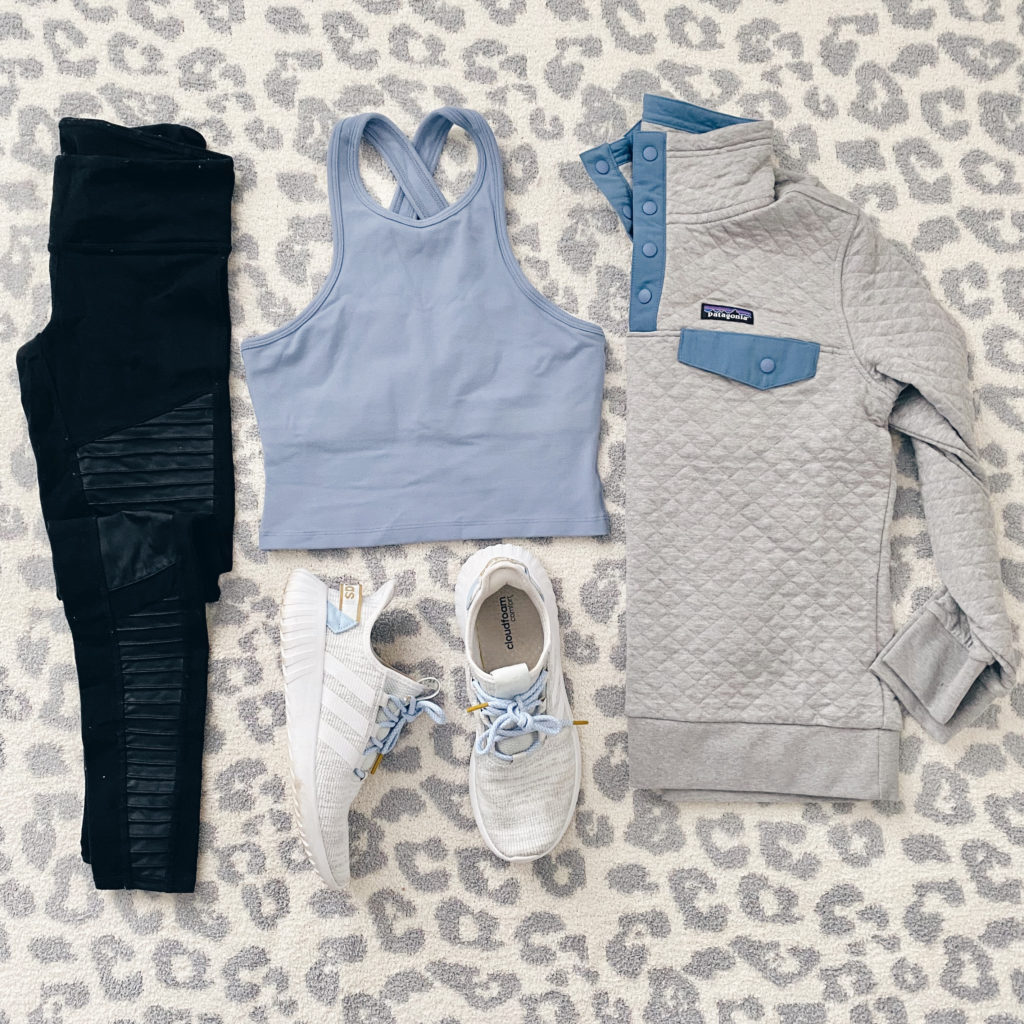 crop top athletic outfit for spring 2020 - pinteresting plans blog