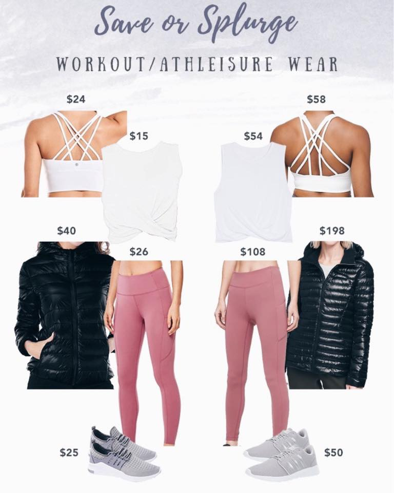save or splurge activewear and athleisure - lululemon speed up tight dupes