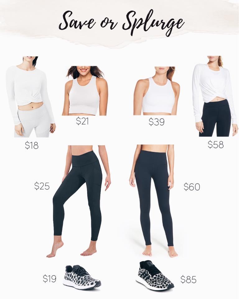 save or splurge fashion activewear and athleisure on pinteresting plans blog