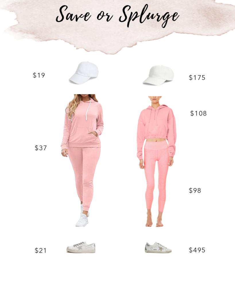 pink matching sweatsuit set on pinteresting plans fashion blog