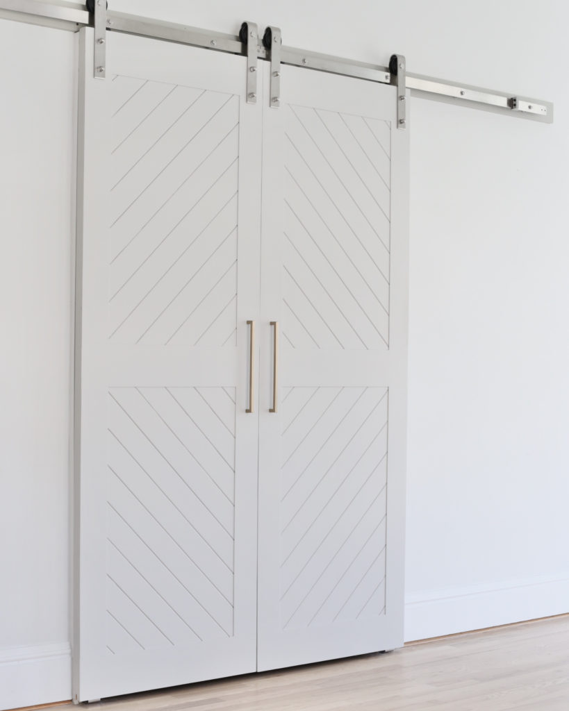 modern barn door style pantry doors - kitchen renovation - pinteresting plans blog