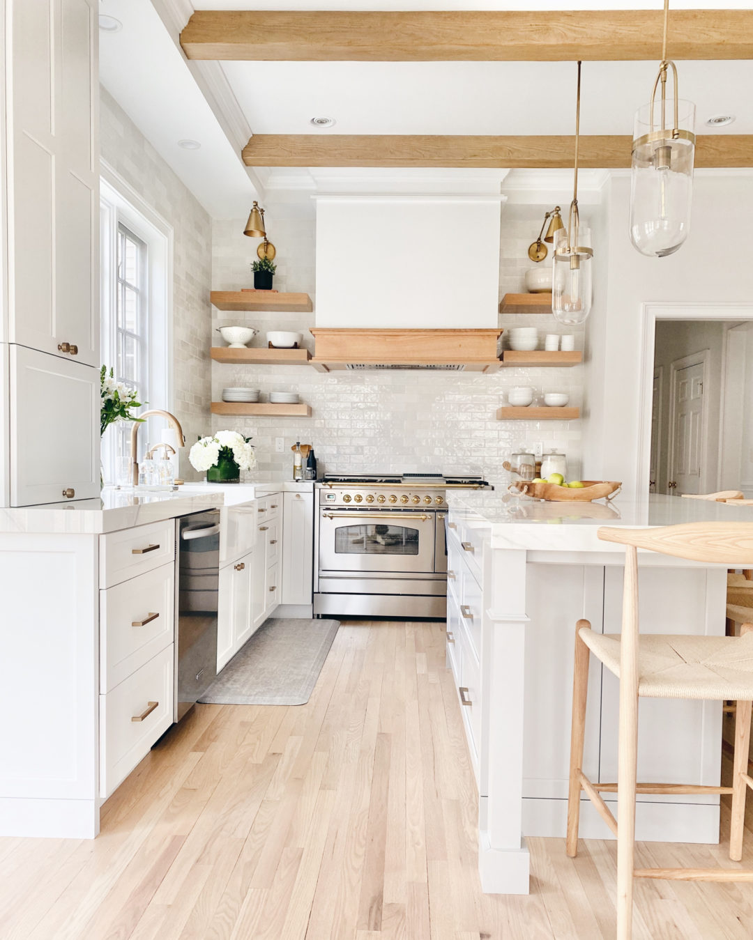 modern white kitchen with open shelving - pinteresting plans blog kitchen remodel