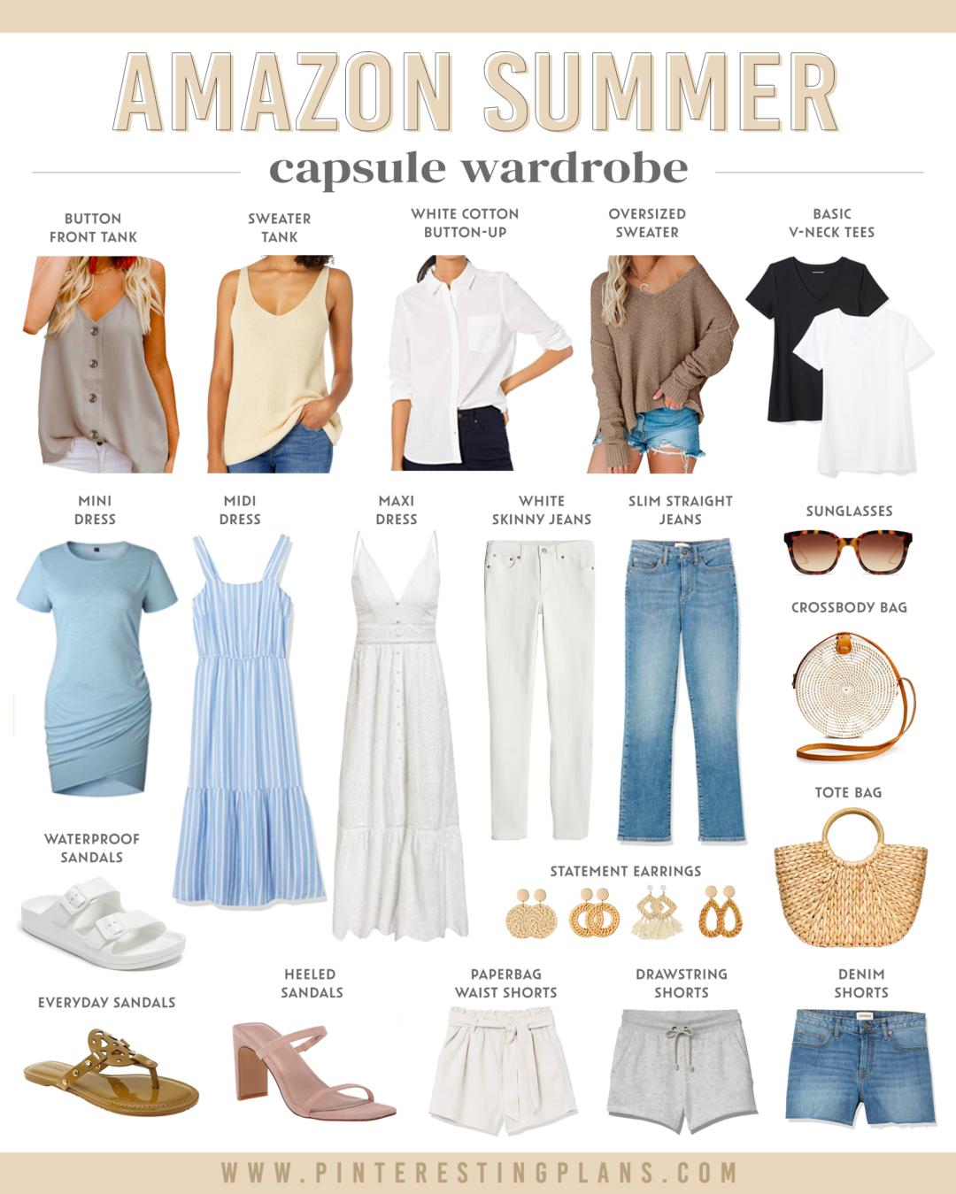 amazon fashion summer capsule wardrobe 2021