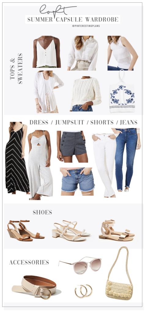 neutral summer capsule wardrobe 2020 from loft on pinteresting plans fashion blog