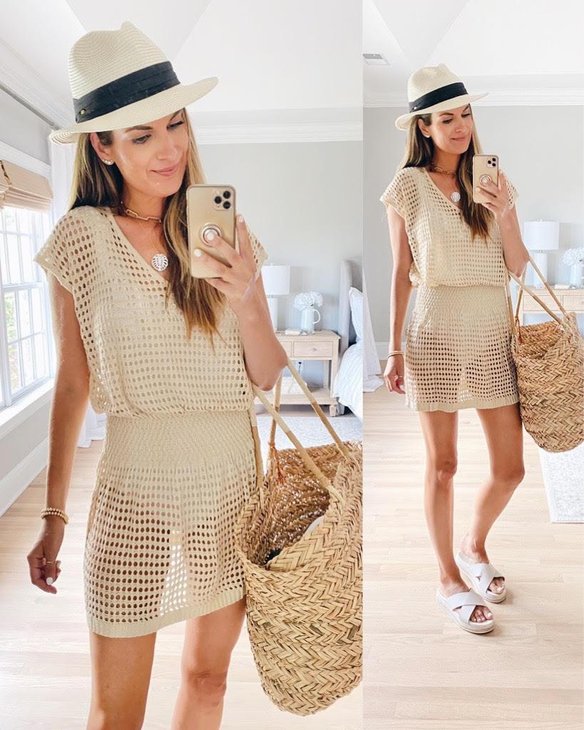 affordable amazon beige knit coverup dress on pinteresting plans blog