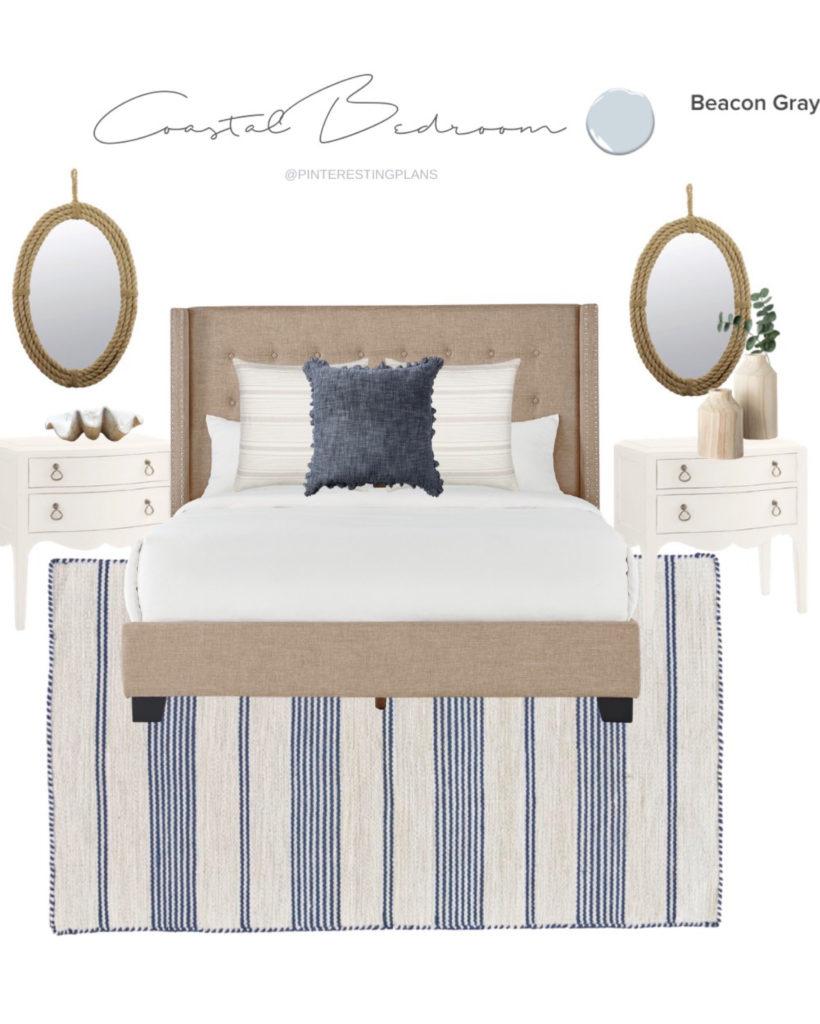 coastal style master bedroom decor idea on pinteresting plans blog