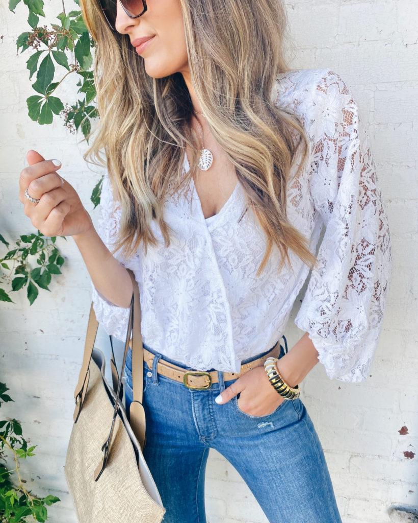 express white floral lace wrap front bodysuit on pinteresting plan fashion blog