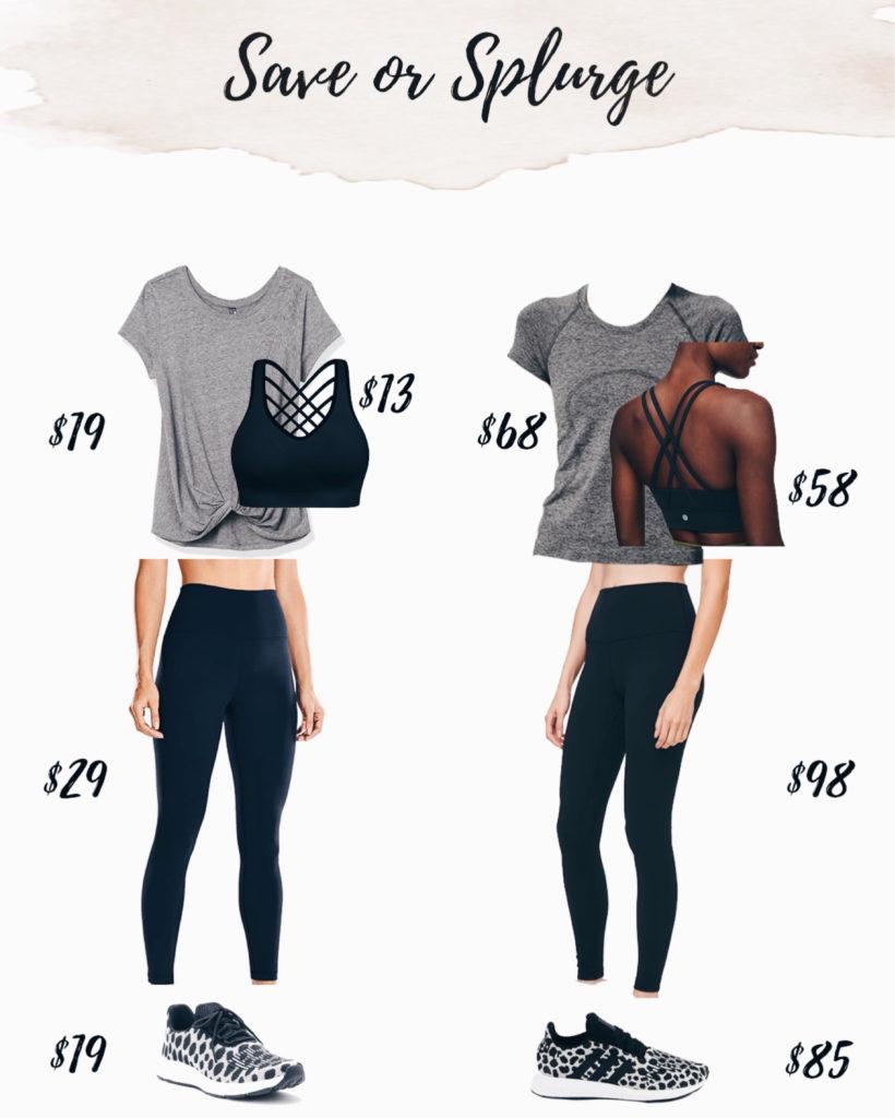 save or splurge lululemon activewear outfit on pinteresting plans blog
