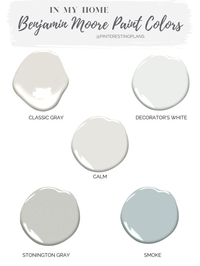 Favorite Benjamin Moore Gray and Neutral Paint colors - Pinteresting Plans blog