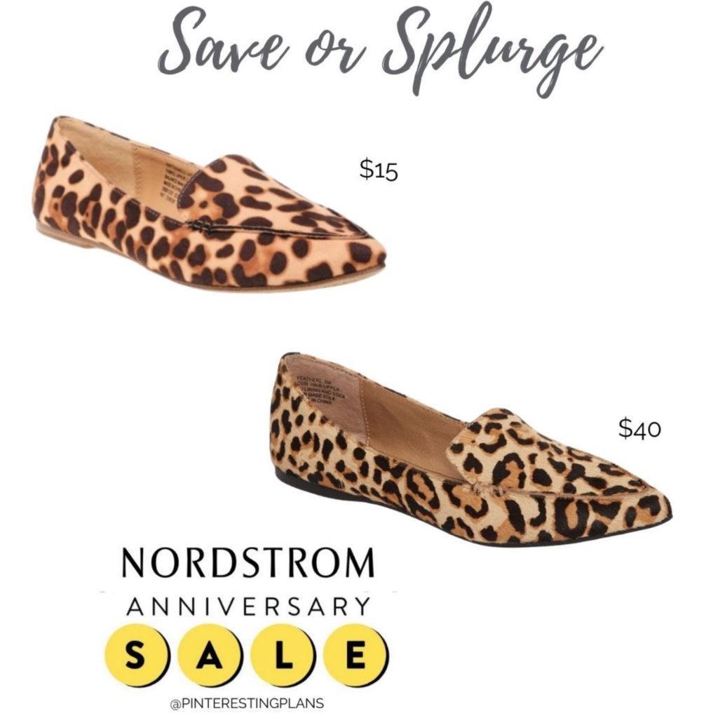 save or splurge walmart and nordstrom anniversary sale sleve madden leopard print calf hair loafer