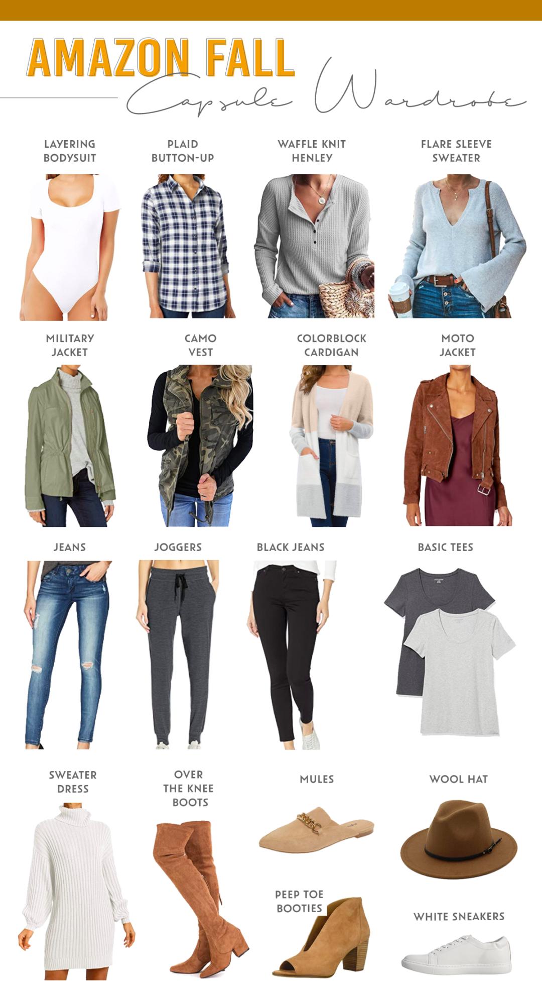 amazon fall 2020 capsule wardrobe for minimalist on pinteresting plans fashion blog