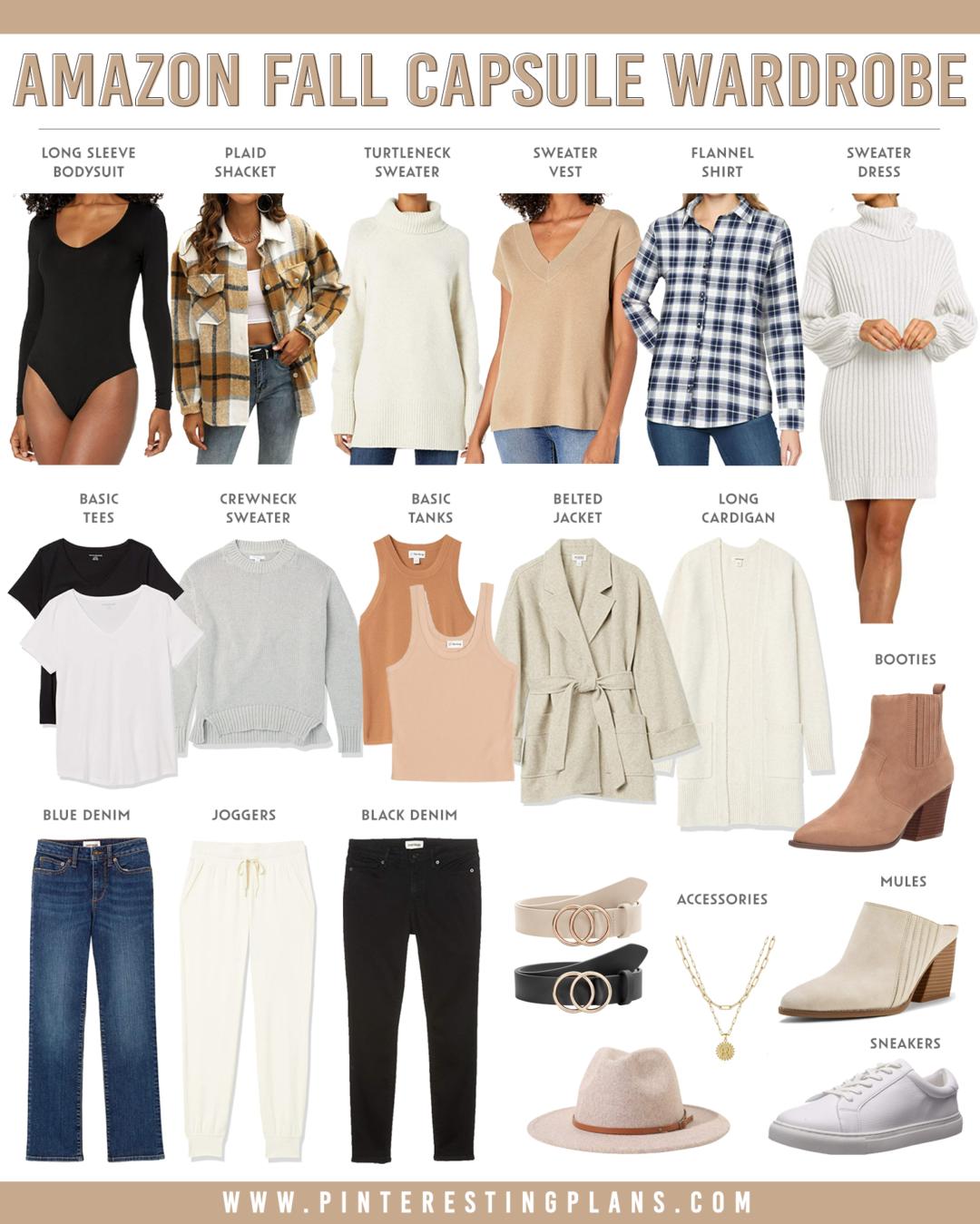amazon fall capsule wardrobe 2021 on pinteresting plans fashion blog