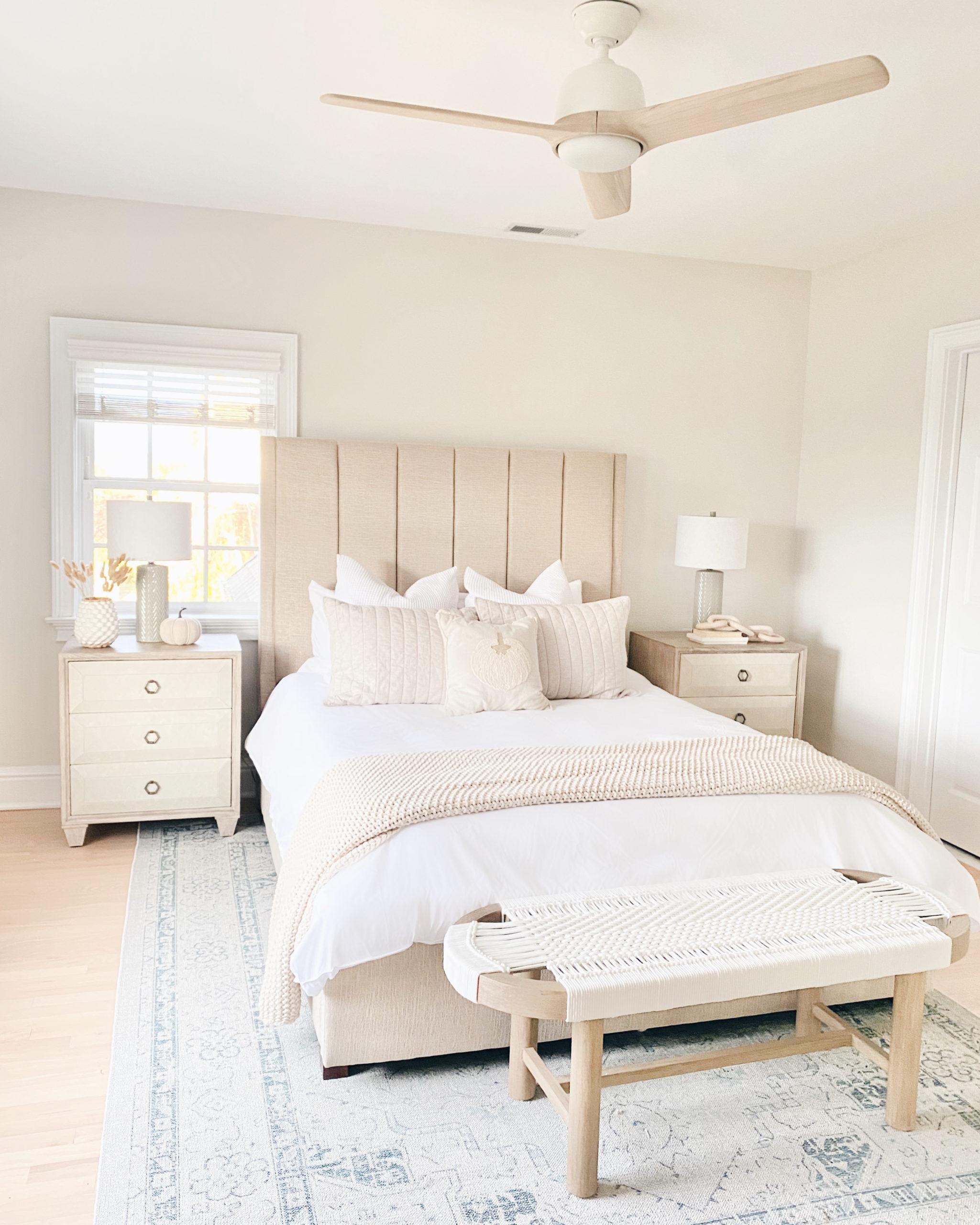 8 foot by 10 foot area rug under queen bed