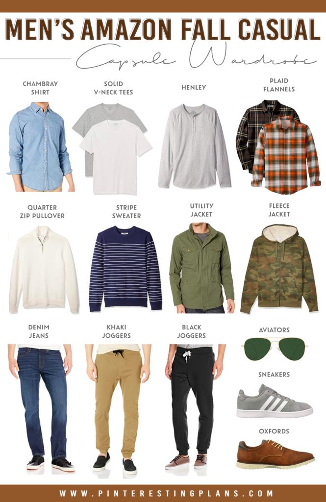 mens amazon fall casual minimalist capsule wardrobe 2020