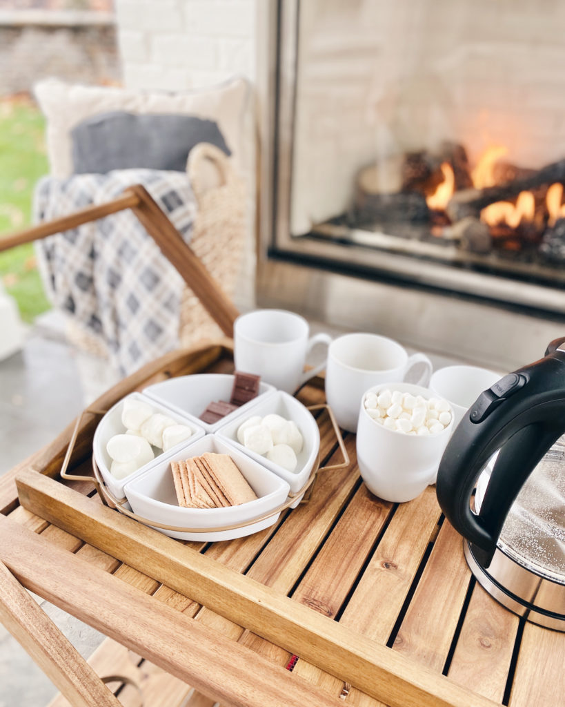 s'mores bar - 2020 socially distanced holiday celebrations