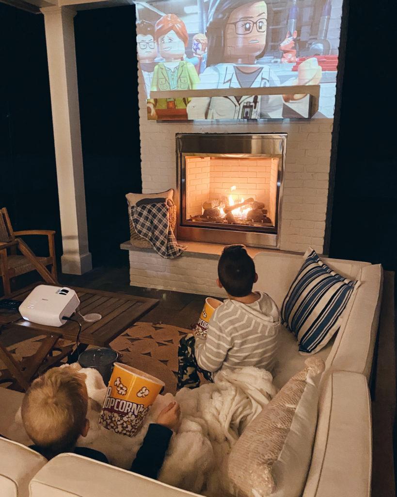 outdoor movie night - socially distanced gathering ideas