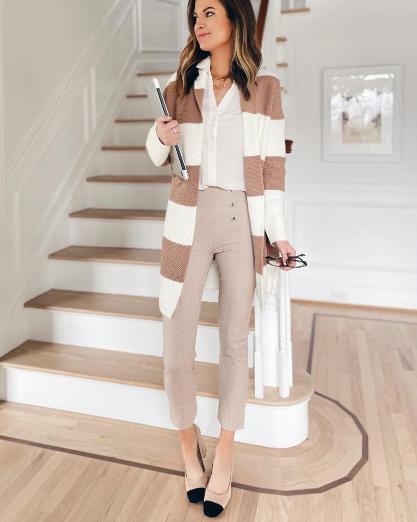 spring workwear 2021 - sailor pants on pinteresting plans blogger Rachel Moore
