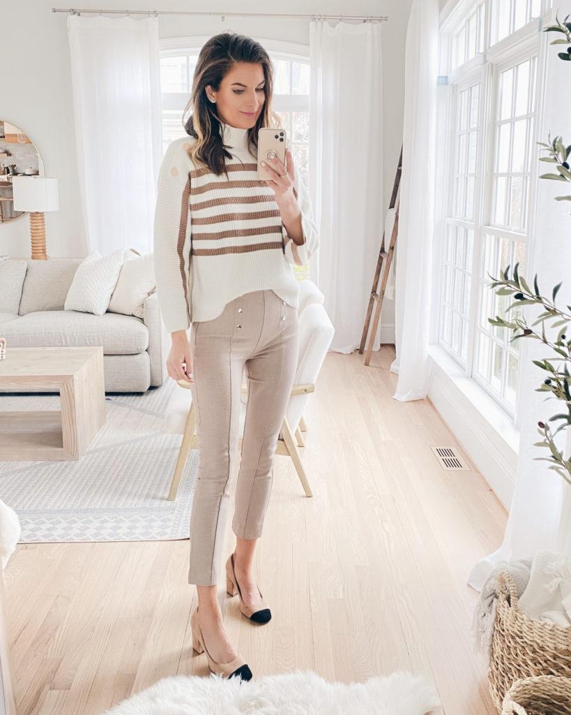 sailor pants work outfit - pinteresting plans blog fashion blog
