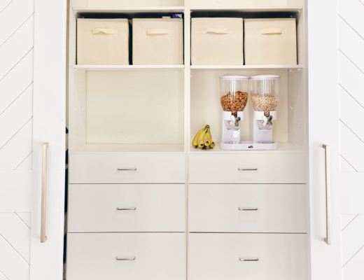 best way to organize kitchen pantry with before and after pictures