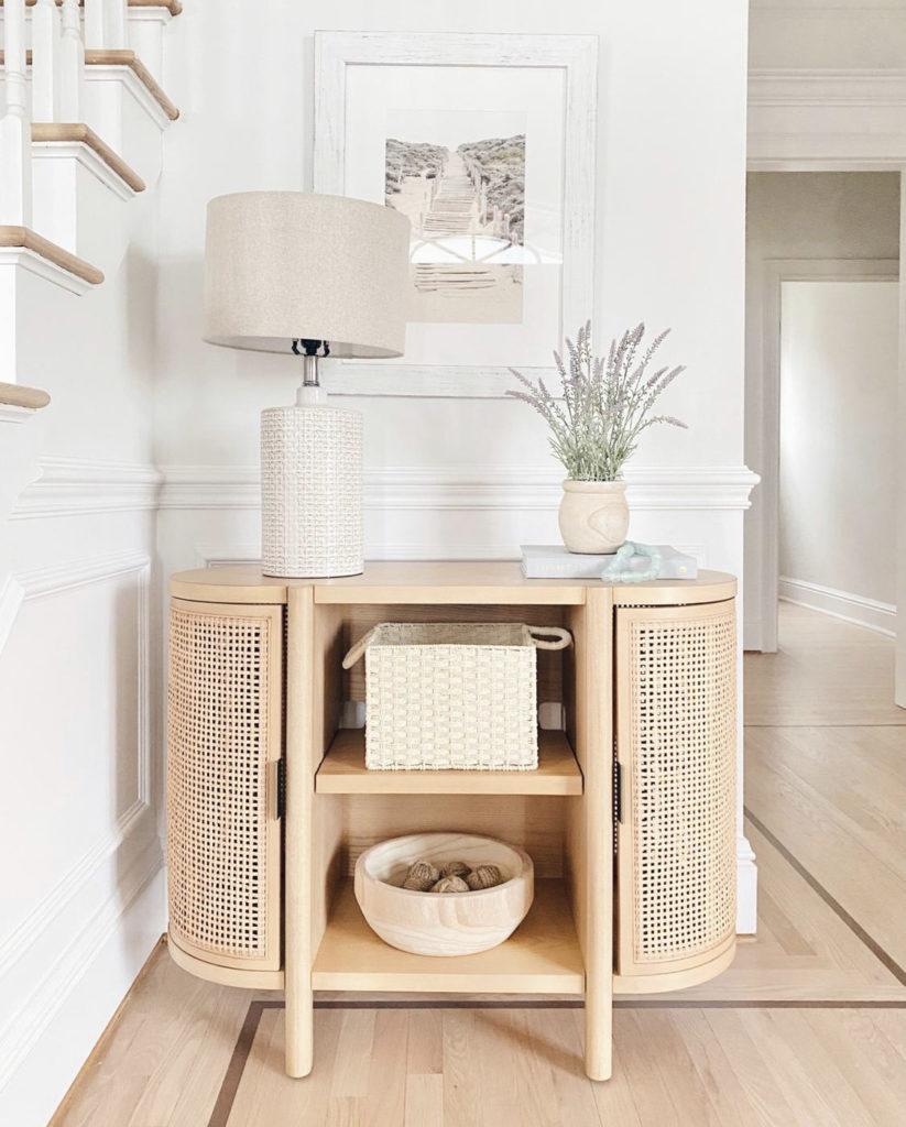 modern traditional console table entryway decor idea