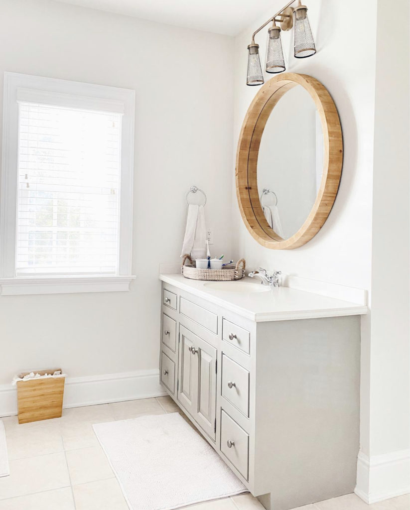 modern traditional guest bathroom interior