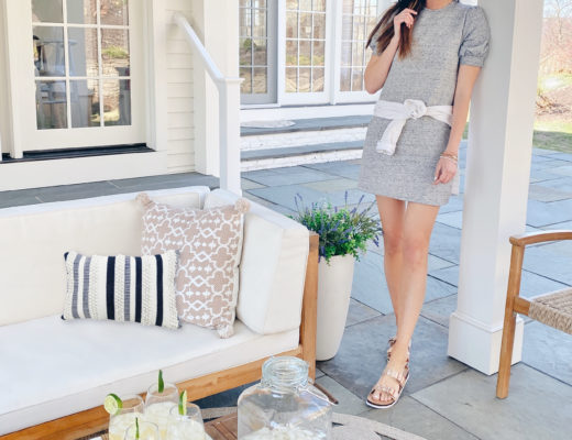 coastal home outdoor patio decorated with walmart spring finds