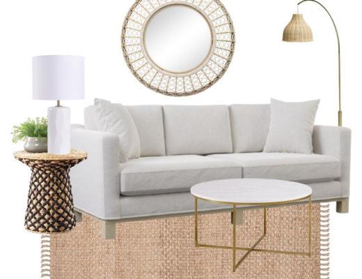 walmart finds - modern coastal sitting room design