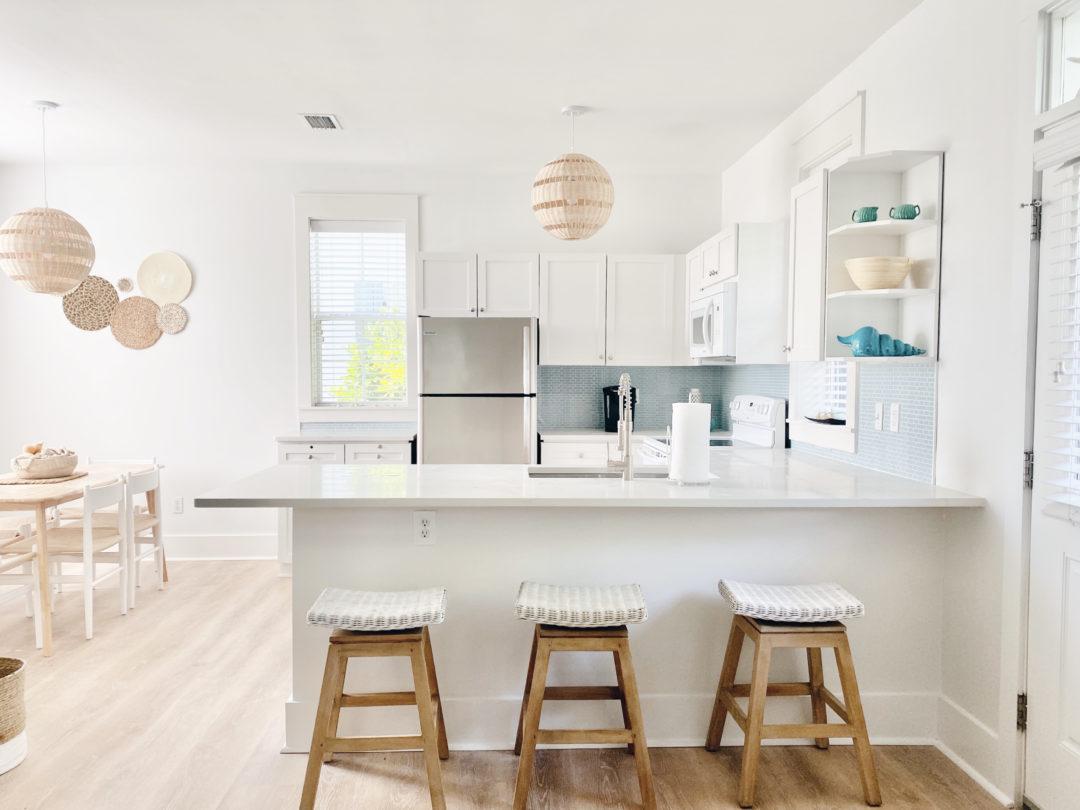 beach bungalow renovation budget - kitchen after photo - stayon30a