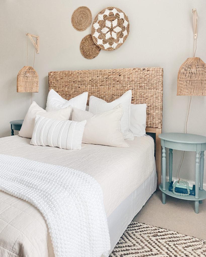 how to make an apartment feel like home - modern coastal bedroom