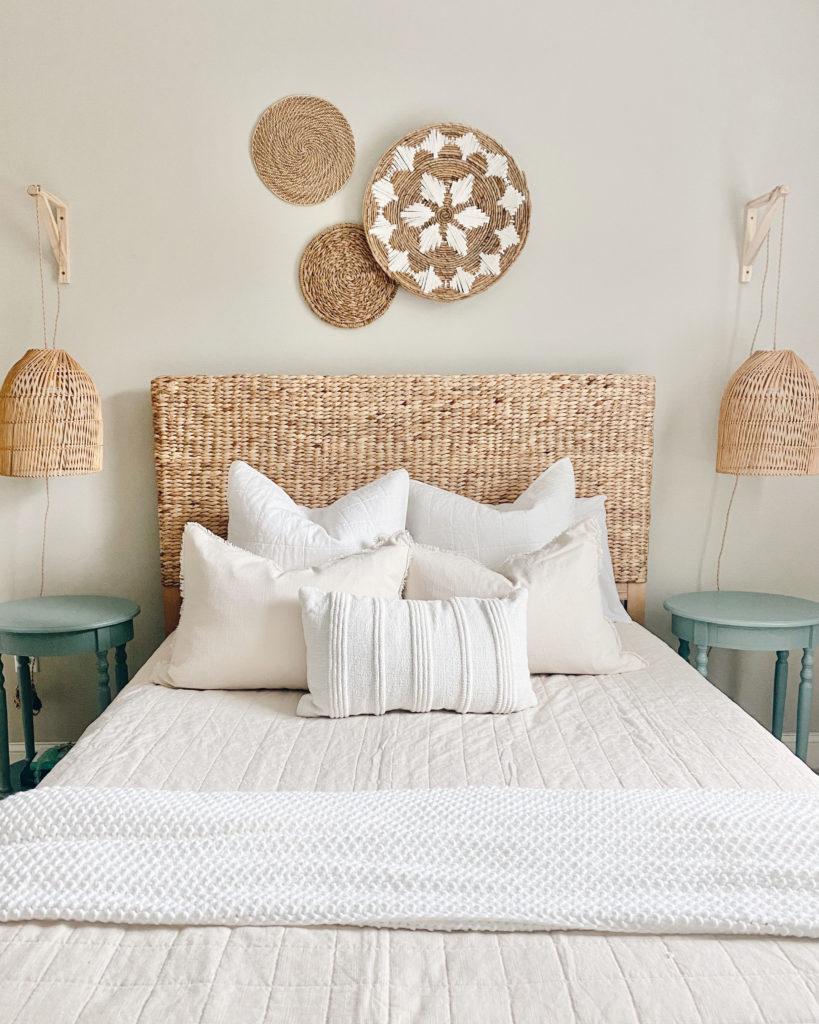 how to make short term rental feel like home - modern coastal bedroom