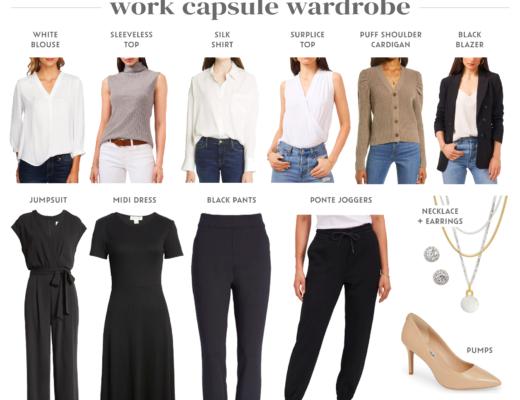 nordstrom anniversary sale 2021 workwear capsule wardrobe